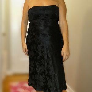 NWT. Black Strapless Banana Republic Dress.